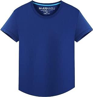Men's O-Neck Slim Fit Pure Cotton T-Shirt Fashion Short Sleeve M-4XL