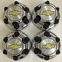 Gosweet 4X Brand NEW Set of 4 Pieces Chrome Chevy Silverado 1500 Tahoe 6 Lug Center Caps 16