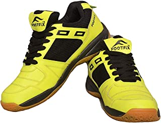 FOOTFIX Boy's Squash Green (Non-Marking) Gym/Badminton Shoes