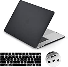 lention Matte Hard Case Compatible MacBook Pro (13-inch, 2016 2017 2018 2019, 2/4 Thunderbolt 3 Ports) - with or w/Out Touch Bar, A1706/A1708/A1989, Matte Finish with Rubber Feet (Frost Black)