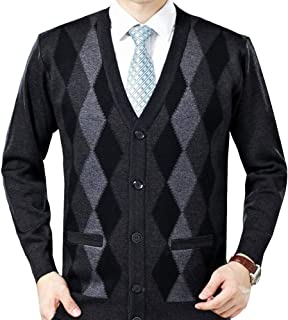 HTOOHTOOH Mens Open Front Loose Fit Lightweight Solid Color Fashion Cardigan Sweaters