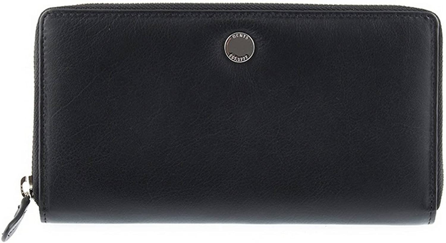 Dents Womens Large Smooth Leather Purse  Black