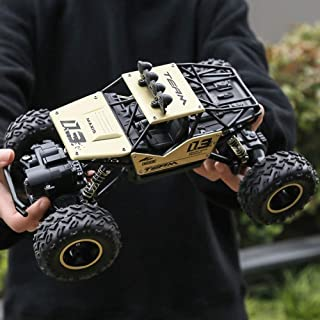 Kikioo 1:18 Scale 2.4 Ghz Radio Remote Control RC Large Alloy Buggy Rock Crawler Truck RTR W/Working Suspension High Speed Off-Road Car Hobby Truggy Rechargeable Drifting Climbing Car Gift For Boys Go