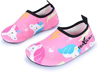 JIASUQI Kids Boys Girls Summer Athletic Water Shoes Aqua Socks Beach Swimming Pool