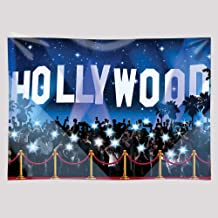 EARVO 7x5ft Red Carpet Backdrop Hollywood Photography Background Hollywood Themed Party Fashion Show Cotton Backdrop Photo Shoot Photocall Props EA018