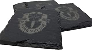 Army Special Forces Slate Coaster Set