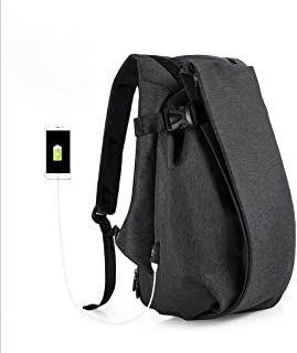 GLJ Backpack Men's Fashion Sports Leisure Backpack Computer Travel Bag Backpack (Color : Black)