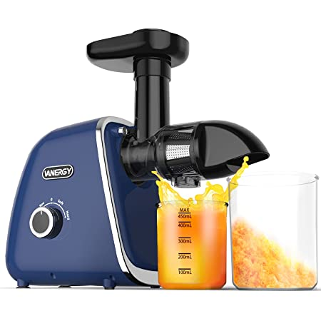 Cold Press Juicer, FEZEN Slow Masticating Juicer Machines with 2-Speed Modes, Quiet Motor & Reverse Function, 95% Juice Yield, Juicer Extractor Easy Clean with Brush, BPA-Free for Vegetable and Fruit