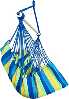 Highwild Hanging Rope Hammock Chair Swing Seat for Any Indoor or Outdoor Spaces - 500 lbs Weight Capacity