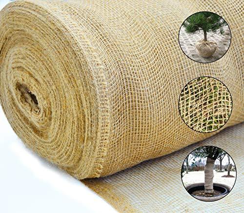Roban Fashion jutematte Gartenjute für Pflanzen Wurzel-Schutz Jute Stoff 60 cm breit natürlicher Stoff meterware Sackleinen für Haus & Garten,60cm Breit,5m Länge