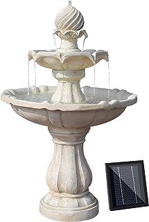 Gardeon Solar Power Fountain Feature Four-Tier Bird Bath Outdoor Water Fountains Pump
