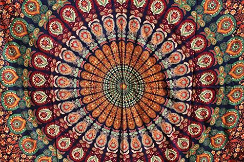 Future Handmade Wandteppich, Motiv: Mandala, Galaxie, Stern, Sonne, Mond, Batik, Wandbehang, indischer, psychedelischer Hippie-Stil, Strandtuch, Überwurf, Bohemian-Stil, QUEEN DESIGN 8