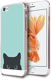 HelloGiftify iPhone 6 / 6s Plus Case, Tiffany Blue&Cat TPU Soft Gel Protective Case for iPhone 6/6s Plus