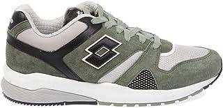 Luxury Fashion | Lotto Men 211149OILGREEN Green Suede Sneakers | Season Outlet