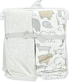 Carter's Baby 2-Pack Swaddle Blankets One Size, Gray