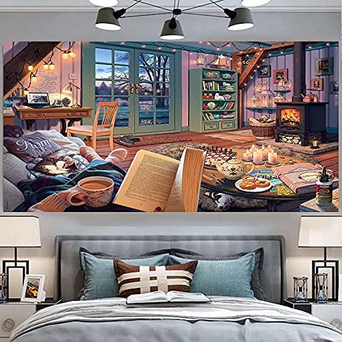 KHKJ Accesorios de decoración del hogar Decoración Murale Decoración de habitación estética Hippie Tarot Cards Decoración Mural A1 230x180cm