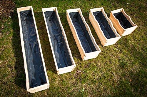 Larisa Pflanzkübel aus Holz, Pflanzkasten, Blumenkasten, Blumenkübel Verschiedene Größe (120x21x20)
