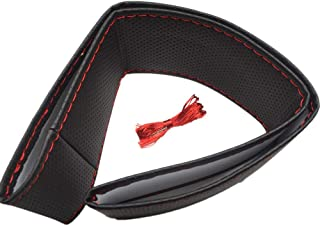 Car Steering Wheel Cover 38CM DIY Leather Cowhide Braid With Needles Thread