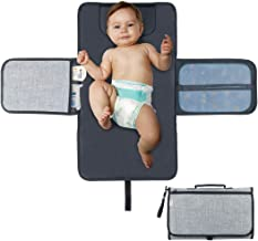 Diaper Changing Pad Diaper Change Mat with Head Cushion and Pockets,Infants Baby Portable Waterproof Changer Mat for Home,Travel & Outside  Idefair (TM)