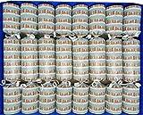 Crackers Ltd Set of 8 Origami Family Christmas Crackers - Snowy Street Design (Cat F1)