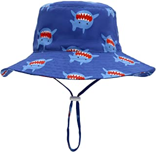 ERISO Baby Boy Sun Hat - UPF 50+ Safari Bucket Outdoor Beach Summer Hat Adjustable