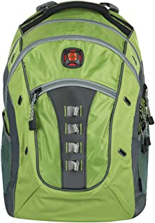 "SwissGear Granite 16"" Padded Laptop Backpack/School Travel Bag-Green"