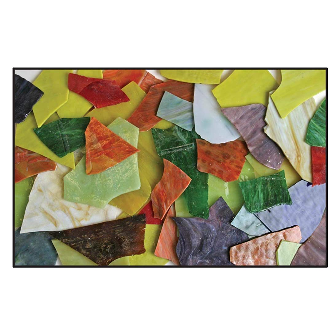Diamond Tech Stained Opalescent and Cathedral Glass Assortment, 30 Pounds