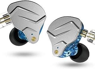KZ ZSN Pro 1BA+1DD Hybrid in Ear Earphones Monitor Running Sports Headphones HiFi Bass Metal Wired Earbuds (No Mic, Blue)