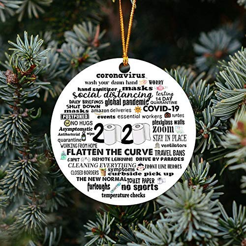 Monsety 2020 Corona Ornament Christmas Ornament Things to do During coronavirus Outbreak Funny Ornament Gift