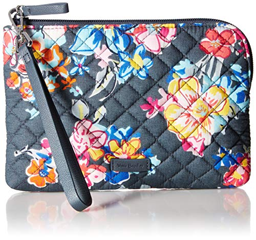 Vera Bradley Women's Signature Cotton Pouch Wristlet, Pretty Posies