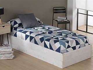 Sansa - Edredón ajustable EVOL - Cama 90 cm - Color Azul