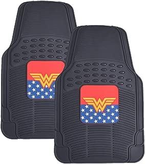 BDK Wonder Woman Rubber Car Floor Mats - 2pc Front Floor Protectors