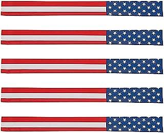 American Flag Slap Bracelets Fourth of July Party Favors Patriotic, Metal, 9 1/2