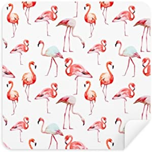 DIYthinker Flamingo Pattern Pink White Glasses Cleaning Cloth Phone Sc...