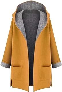 Jueshanzj Women's Winter Long Wool Coat with Hood