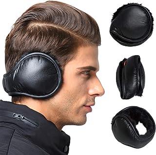 Mens Ear Muffs Foldable Faux Fur Fleece Outdoor Winter Ear Warmer Covers Headband