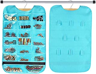 PACKNBUY Hanging Jewellery Organizer with Hooks Pockets