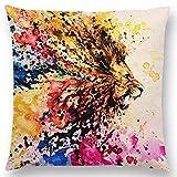MAY-XCustom-Pillowcase Kissenbezüge,Gemälde Pferd Adler Wolf Leopard Tiger Elefant Vögel...