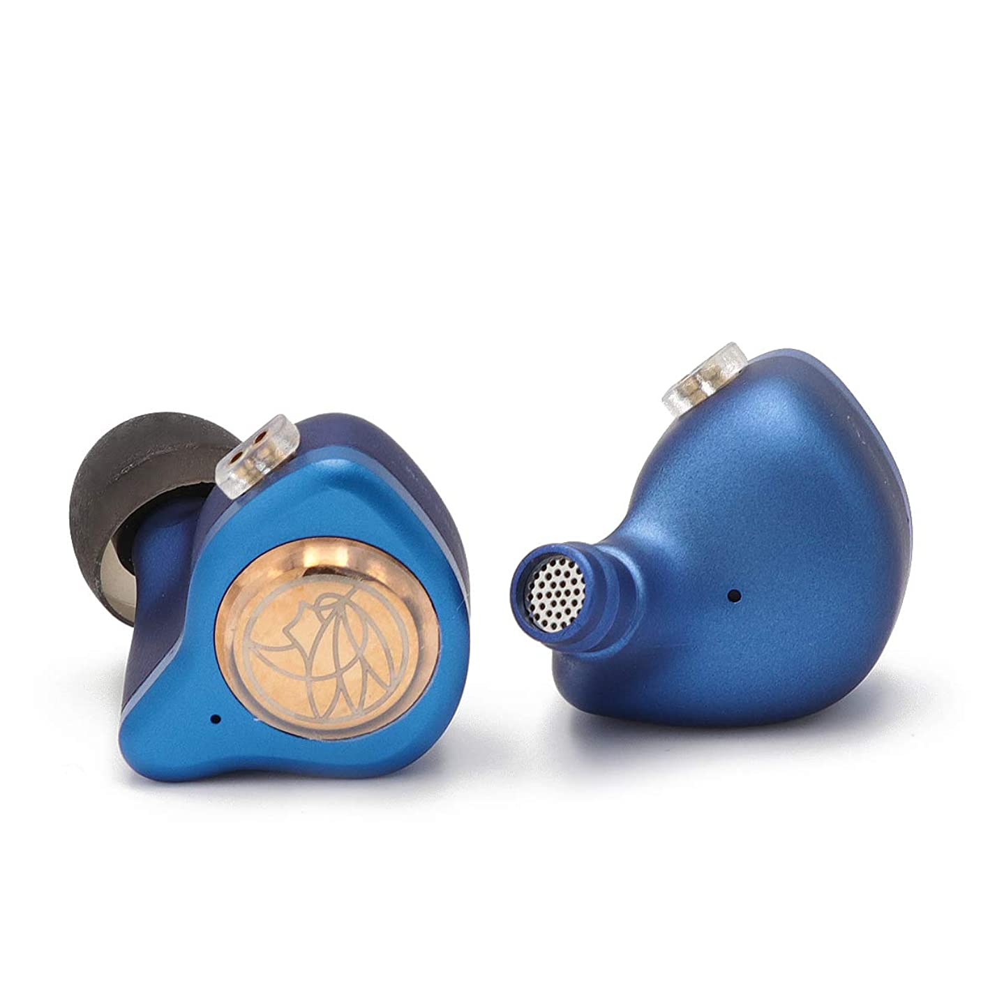 Linsoul TFZ King II Dynamic Driver HiFi Monitor in-Ear Earphone Audiophile IEMs with 2Pin 0.78mm Detachable Cable (Blue)