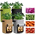 4-Pack Ausemku Potato Two Sides Velcro Window Vegetable Grow Bags