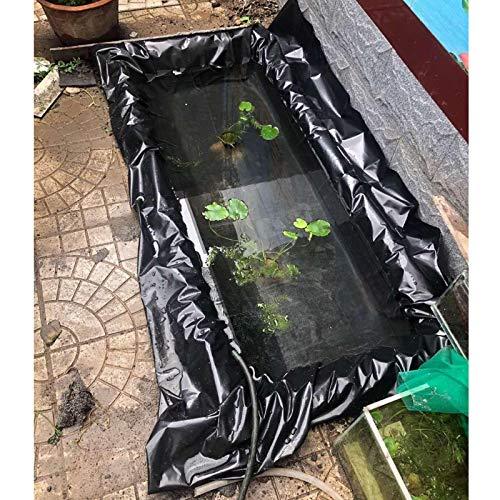 F-XW Umweltfreundlich HDPE Teichfolie Schwarz für Gartenteich, UV-Beständig, Reißfest, 1 x 2 m, 2 x 2 m, 2.5 x 2.5 m, 2.5 x 3 m, 3 x 5 m, 4 x 7 m, 6 x 9 m, 6 x 12 m, 8 x 11 m, 8 x 12 m