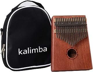 Beesclover - Percusión para dedo de piano africano con 17 teclas Kalimba Mbira Calimba, caoba