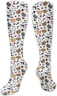 MISS-YAN, Gatos s calcetines para los hombres y de las mujeres loca divertida corrientes atléticos Trel Deportes sobre la pantorrilla Calcetines