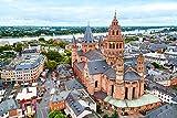 DesFoli Mainz Deutschland Skyline Stadt Poster Kunstdruck