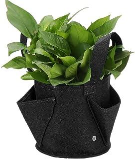 Nfudishpu Potato Growing Bags Non-Woven Felt Planter Pot Round Planting Container Grow Bags Plants Nursery Seedling Planti...