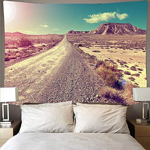 KHKJ Gran montaña Bosque Cielo Paisaje Tapiz Arte psicodélico Colgante de Pared Toalla de Playa Mandala Manta Fina Decorativa A3 200x180cm