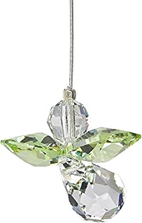 Birthstone Angel Graduation Gift Set - 2 Pc BIrthstone Crystal Guardian Angel Set With Unisex Graduation Greeting Card - Comes in an organza bag so it's ready for giving! (August - Peridot)