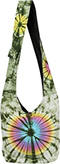 Tie-Dye Hobo Tote Bag - Crossbody Purse with Cell Phone Pocket