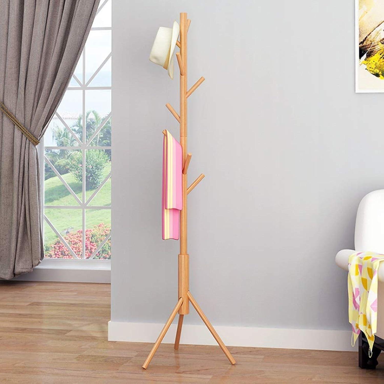 Coat rack hanger Floor coat rack, Coat Rack Clothes Stand Hat Handbag Hanger Hall Hanging Rod Double Tree Branches Adjustable for Bedroom Office 46  168CM (color   C)