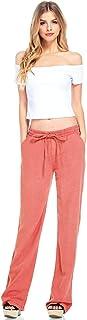 Celebrity Pink Women's Wide Leg Linen Pants